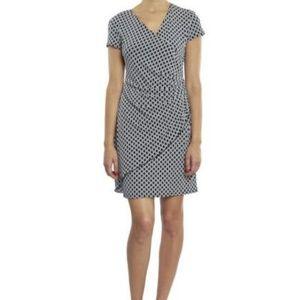 Joseph Ribkoff Link Design Wrap Look Dress